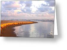 Sunlit Shores Greeting Card