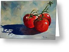 Sunlit Tomatoes  Greeting Card