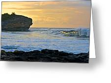 Sunlit Waves - Kauai Dawn Greeting Card