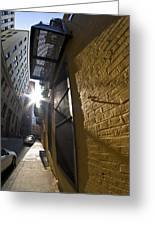 Sunny Alley Greeting Card