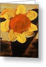 Sunny And Black Greeting Card by Mary Carol Williams