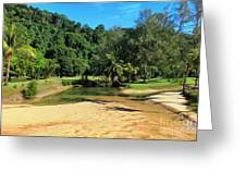 Sunny Beach Tioman Island Greeting Card