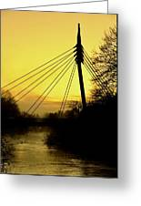 Sunny Bridge Greeting Card