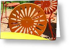 Sunny Chairs 4 Greeting Card