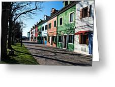 Sunny Colors Of Burano Greeting Card