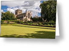 Sunny Day At Hexham Abbey Greeting Card