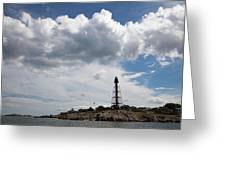 Sunny Day At Marblehead Lighthouse Greeting Card