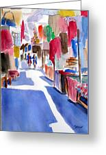 Sunny Day At The Market Greeting Card
