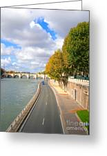 Sunny Day In Paris Greeting Card