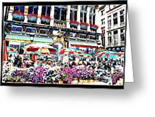 Sunny Day On The Grand Place Greeting Card