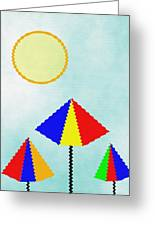 Sunny Days At The Beach Greeting Card