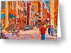 Sunny Downtown  Greeting Card