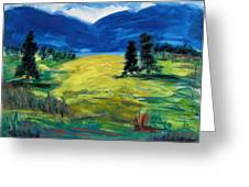 Sunny Field Greeting Card by Mary Carol Williams