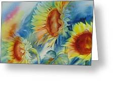 Sunny Flowers I Greeting Card