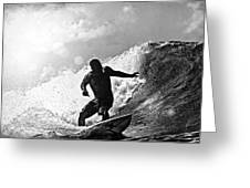 Sunny Garcia In Black And White Greeting Card by Paul Topp