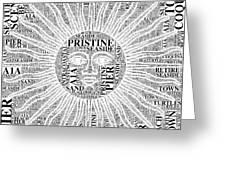 Sunny In Flagler Beach Greeting Card