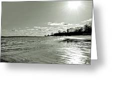 Sunny March Day On The West Beach Greeting Card