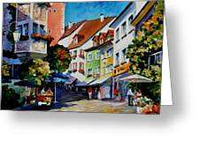 Sunny Meersburg - Germany Greeting Card