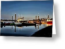 Sunny Morning At Onset Pier Greeting Card