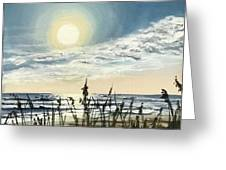 Sunny Morning On Crescent Beach Greeting Card
