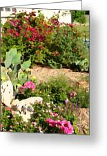 Sunny Rock Garden Greeting Card