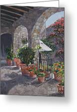 Sunny San Miguel Courtyard Greeting Card