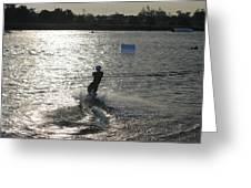 Sunny Ski Greeting Card