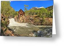 Sunny Skies Over The Crystal Mill Greeting Card