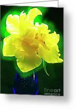 Sunny Tulip In Vase. Greeting Card
