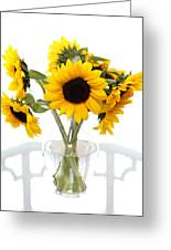 Sunny Vase Of Sunflowers Greeting Card