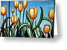 Sunny Yellow Tulips Greeting Card