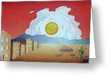 Sunnyside Up Fried Egg Sunrise Greeting Card