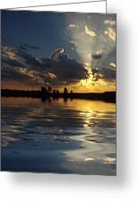 Sunray Sunset Greeting Card