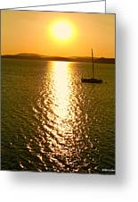 Sunrise 6 8 17 Malletts Bay Greeting Card