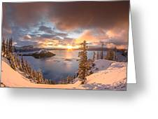 Sunrise After Summer Snowfall Greeting Card