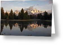 Sunrise Along The Range Greeting Card