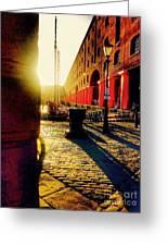 Sunrise At Albert Dock Greeting Card