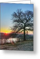 Sunrise At Amelia Earhart Home. Greeting Card