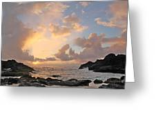 Sunrise At Cockroach Cove Greeting Card