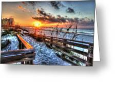 Sunrise At Cotton Bayou  Greeting Card by Michael Thomas