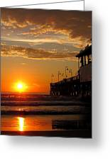 Sunrise At Daytona Beach Pier  004 Greeting Card