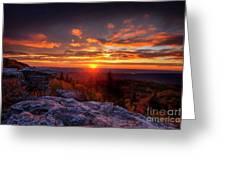 Sunrise At Dolly Sods At Bear Rocks Greeting Card