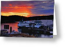 Sunrise At Friday Harbor Greeting Card
