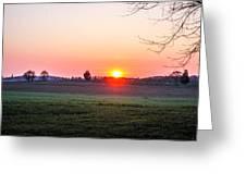 Sunrise At Gettysburg Greeting Card