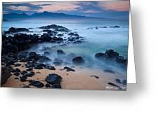 Sunrise At Ho'okipa - Sunrise At Hookipa Beach In Maui Greeting Card