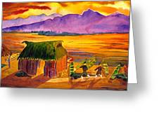 Sunrise At La Brecha Greeting Card