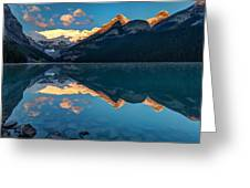 Sunrise At Lake Louise, Banff National Park, Alberta, Canada Greeting Card
