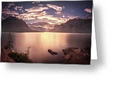 Sunrise At Lake Minnewanka Greeting Card