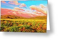 Sunrise At Montana De Oro Greeting Card