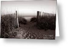 Sunrise At Myrtle Beach Sc Greeting Card by Susanne Van Hulst